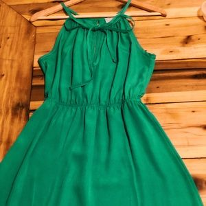 Jella Couture—Jolly Green Keyhole Tie Dress